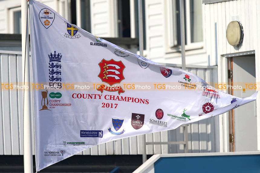The 2017 County Champions flag flies over the ground during Essex CCC vs Lancashire CCC, Specsavers County Championship Division 1 Cricket at The Cloudfm County Ground on 21st April 2018