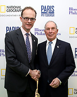"LONDON, UK - DECEMBER 11: Dominic Jeremy and Michael Bloomberg attend the London Premiere of Bloomberg and National Geographic's ""Paris to Pittsburgh"" at the BAFTA Theatre on December 11, 2018 in London, UK. (Photo by Vianney Le Caer/National Geographic/PictureGroup)"
