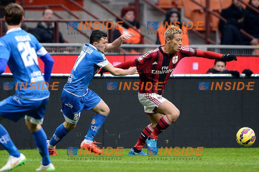 Keisuke Honda Milan, Mario Rui Empoil<br /> Milano 15-02-2015 Stadio Giuseppe Meazza - Football Calcio Serie A Milan - Empoli. Foto Giuseppe Celeste / Insidefoto