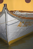 Europe/France/Aquitaine/Gironde/Bassin d'Arcachon/Cap Ferret: détail pinasse d'ostréiculteur au port du Village des Pécheurs: