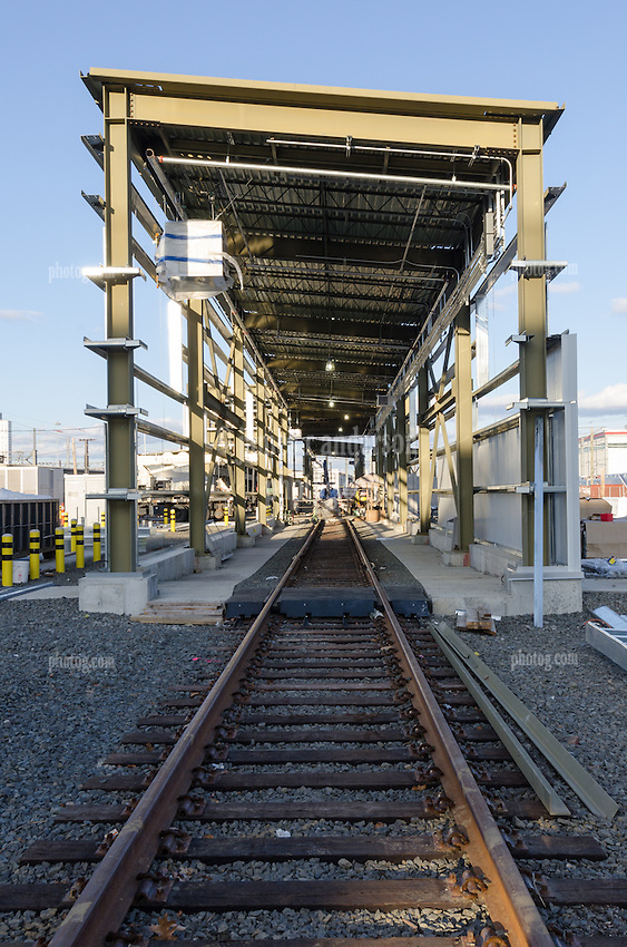 New Haven Rail Yard, Independent Wheel True Facility. CT-DOT Project # 0300-0139, New Haven CT.<br /> Photograph of Construction Progress Photo Shoot 29 on 29 November 2013. One of 52 Images Captured this Submission.