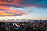 Sunset Overlooking Florence, Italy
