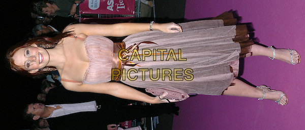 AMY NUTALL - NUTTALL.ASDA'S Tickled Pink: Girls Night In Live, Royal Albert Hall, SW7, London.September 19th, 2004.full length, chiffon, ribbon, purple dress.www.capitalpictures.com.sales@capitalpictures.com.©Capital Pictures