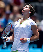 Carla Suarez Navarro (ESP) (32) against Serena Williams USA (1) in the Third Round of the Womens Singles. Williams beat Navarro 6-0 6-3..International Tennis - Australian Open Tennis - Saturday 23 Jan 2010 - Melbourne Park - Melbourne - Australia ..© Frey - AMN Images, 1st Floor, Barry House, 20-22 Worple Road, London, SW19 4DH.Tel - +44 20 8947 0100.mfrey@advantagemedianet.com