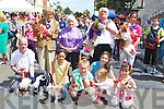 CHAMPION DOGS: Champion dogs who were presented by Cis O'Connor Judge of the dog show at the Ashe Street Mini Festival on Saturday, L;r: Pat Curran, Jasmine Ryle, Katie Crowe, Ashleigh and Aleg Clifford, Katlyn Scannell,Muireann Maaguire, Ava Eve, Josephine O'Dowd. and Cis O'Connor (judge).