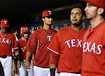 Yu Darvish (Rangers),<br /> SEPTEMBER 30, 2013 - MLB : Yu Darvish of the Texas Rangers (C) is seen during the MLB baseball American League wild-card tiebreaker baseball game against the Tampa Bay Rays at Rangers Ballpark in Arlington, TX, United States.<br /> (Photo by AFLO)