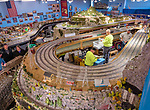 Farmingdale, New York, USA. January 21, 2018. TMB Model Train Club has Open House at its Headquarters.