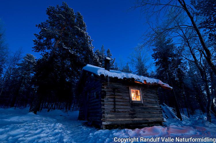 Ellenkoia i Pasvik. ---- Hut in Pasvik, Norway.