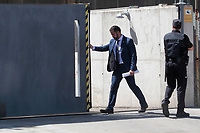 Prime Minister Mariano Rajoy leaves the High Court on car after declares