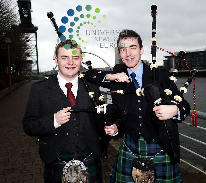 "Glasgow 2014 has revealed that the hundreds of Scots who will perform at the Delhi 2010 Handover Ceremony will be led out onto the field of play in the main Stadium in Delhi by a Scottish ""hero piper""..Following a rigorous audition process that involved a lengthy search with the Royal Scottish Pipe Band Association, the College of Piping and the National Piping Centre and the Royal Scottish Academy of Music and Drama (RSAMD), Jonathan Graham, 19, rom Bishopbriggs, and Craig Muirhead, 20, from Bannockburn,were appointed. Both study Scottish Music at RSAMD..The Handover Ceremony marks the Flag Handover from Delhi to Glasgow, and includes an 8 minute creative programme to showcase Glasgow and Scotland to the rest of the world. The performance, which will involve a mass choreographed dance routine, will take place in the spectacular Jawaharlal Nehru Stadium and will host a capacity crowd of 60,000 for the Closing Ceremony. The performance will be beamed live across the Commonwealth to an estimated audience of 1 billion people..6 May  2010: Universal News and Sport (Europe). All pictures must be credited to  www.universalnewsandsport.com. (0ffice) 0844 884 51 22..All pictures must be credited to  www.universalnewsandsport.com. (0ffice) 0844 884 51 22."