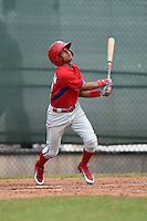 Philadelphia Phillies Grenny Cumana (12) during a minor league spring training intrasquad game on March 27, 2015 at the Carpenter Complex in Clearwater, Florida.  (Mike Janes/Four Seam Images)