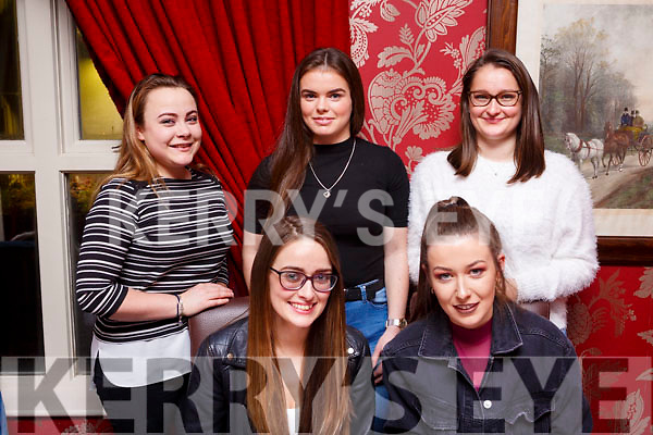 New Years Eve Eve girls night out in Cassidys. Seated l-r, Christina Roche and Caitlin Casey. Back l-r, Grace Costello, Rebecca Horigan and Ola Serafion.