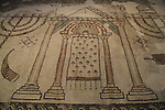 Israel, Jerusalem, mosaic floor from a Synagogue in Beth Shean, 5th-7th century AD, at the Israel Museum