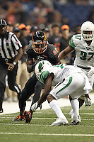 SAN ANTONIO, TX - OCTOBER 29, 2016: The University of Texas at San Antonio Roadrunners defeat the North Texas University Mean Green 31-17 at the Alamodome. (Photo by Jeff Huehn)