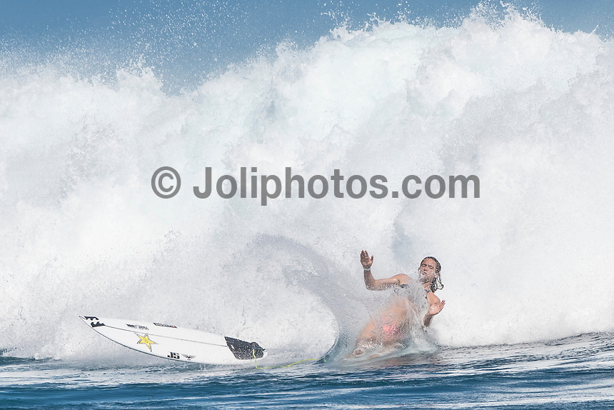 Namotu Island Resort, Nadi, Fiji (Wednesday, May 24 2017): Courtney Conlogue (USA) The wind  had dropped back this morning and swung back to South East Trades. It continued to drop through the day. The swell was still in the 4'-6' range with bigger sets. Cloudbreak was barreling through the inside, especially around the low tide but was crowded with big group of pro surfers, both male and female practising for the OK Fiji Pro which begins on Saturday. <br /> Lefts was very good and improved as the wind dropped. The current was very strong round the low tide. Pools also had some fun waves early afternoon before the Trades strengthen.  Photo: joliphotos.com