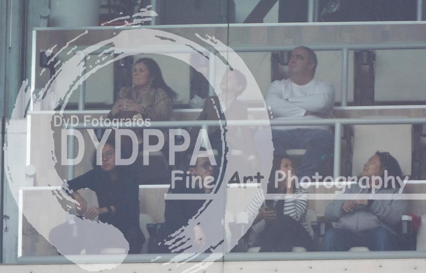Maria Dolores dos Santos Aveiro with his grandson Ronaldo Jr. at Real Madrid palco