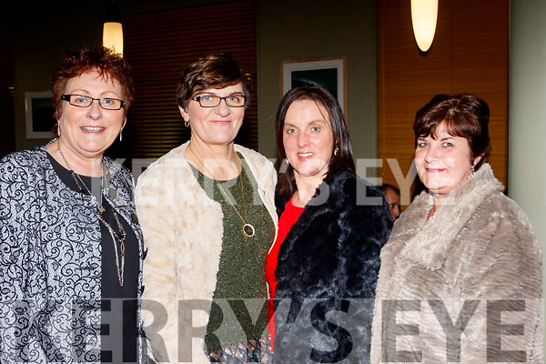 L-R Kathleen McCarthy, joan Glover, Moira O'Sullivan with Kathleen Heirhe having fun at the Kingdom Veteran, Vintage&Classic Car Club annual social in the Ballyroe Heights hotel, Tralee last Saturday night.