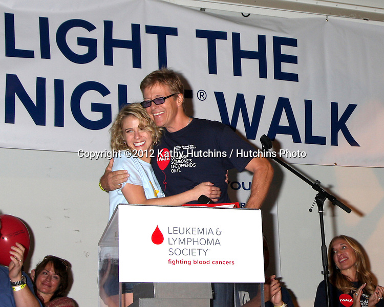 LOS ANGELES - OCT 6:  Linsey Godfrey, Jack Wagner attends the Light The Night Walk to benefit The Leukemia & Lymphoma Society at Sunset Gower Studios on October 6, 2012 in Los Angeles, CA