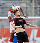 Alfred FINNBOGASON r. (A) beim Kopfball gegen Mathias JOERGENSEN (Jörgensen)(D),<br /><br />Fussball 1. Bundesliga, 33.Spieltag, Fortuna Duesseldorf (D) -  FC Augsburg (A), am 20.06.2020 in Duesseldorf/ Deutschland. <br /><br />Foto: AnkeWaelischmiller/Sven Simon/ Pool/ via Meuter/Nordphoto<br /><br /># Editorial use only #<br /># DFL regulations prohibit any use of photographs as image sequences and/or quasi-video #<br /># National and international news- agencies out #