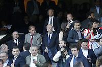 MADRID, ESPANHA, 22.04.2014 - LIGA DOS CAMPEOES - ATLETICO DE MADRID - CHELSEA - Treinador da selecao espanhola Vicent Del Bosque acompanha partida entre Atletico de Madrid e Chelsea pela semi-finais da Liga dos Campeoes no Estadio Vicente Calderón, em Madri, Espanha. (FOTO: CESAR CEBOLA / ALFAQUI / BRAZIL PHOTO PRESS