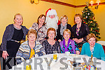 Commitee Members for the Christmas Party for the last 30 years for Eagle Lodge, Tralee l-r  Margaret O'Sullivan, Nora O'Connor, Joan Moran, Mary O'Mahony, Patricia Walsh, Elizabeth Kelleher with Santa, Mary Shanahan and Josephine Moore. enjoying the party at the Meadowlands Hotel on Sunday
