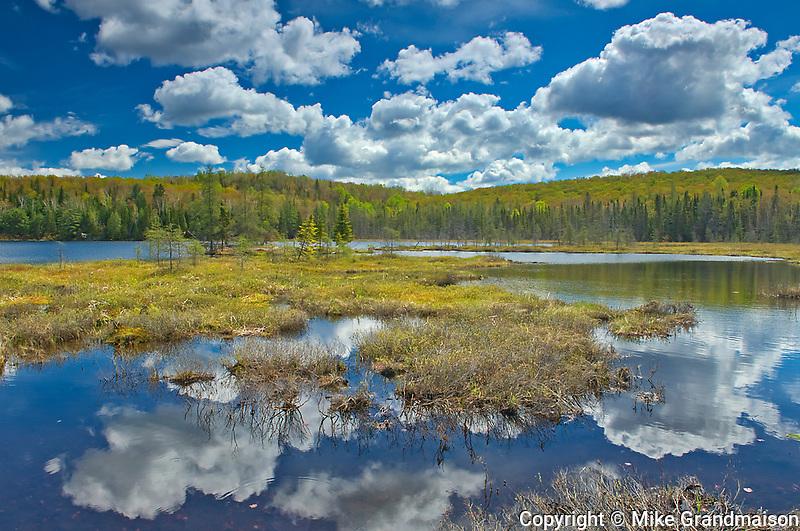 Clouds reflected in Arrowhead  Lake<br />Arrowhead Provincial Park<br />Ontario<br />Canada