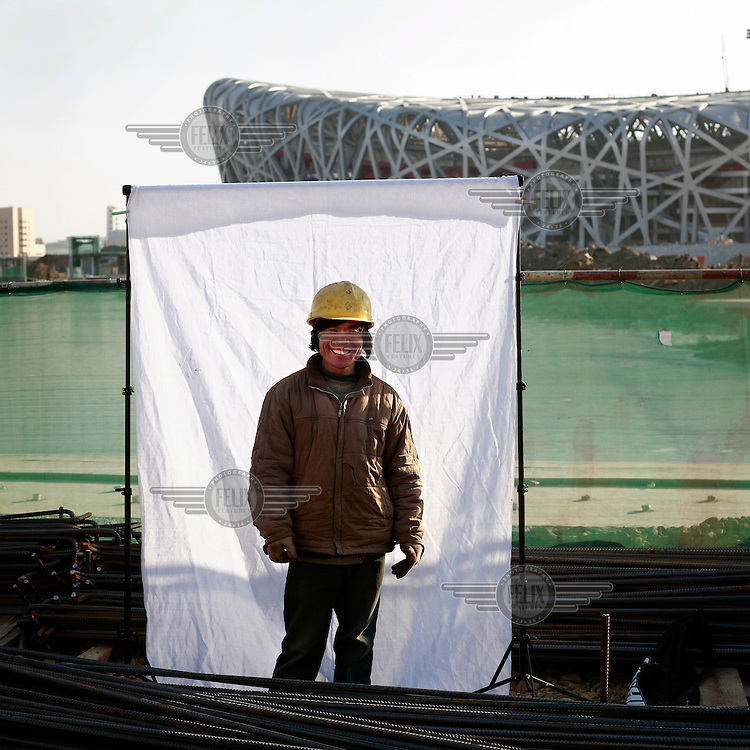 Li Erde is a farmer from Shuang Jing County. In Beijing he works as an iron worker earning 1500 RMB ($200) per month. Migrant workers have come from all over China to Beijing to assist in the economic and construction boom in the run-up to the 2008 Olympic Games...