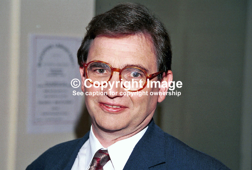 Brian Wilson, Labour MP, Britain, UK, Photograph taken at 1996 Labour Party Conference. Ref: 199610164.<br />