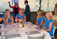 April 16, 2015, Netherlands, Den Bosch, Maaspoort, Fedcup Netherlands-Australia,  Official dinner, Dutch table<br /> Photo: Tennisimages/Henk Koster