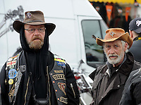 Bikers admire the machines at Ireland Bikefest at the weekend. <br /> Picture by Don MacMonagle