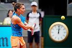 Caja Magica. Madrid. Spain. 07.05.2014. Mutua Madrid Open, Match beetwen Simona Halep vs Lara Arruabarrena.