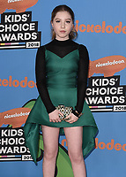 LOS ANGELES, CA - MARCH 24:  Ella Anderson at Nickelodeon's 2018 Kids' Choice Awards at The Forum on March 24, 2018 in Los Angeles, California. (Photo by Scott KirklandPictureGroup)
