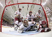 Brian Dumoulin (BC - 2), Patrick Wey (BC - 6), Matt Price (BC - 25), Matt Lombardi (BC - 24), Parker Milner (BC - 35), Casey Wellman (UMass - 7) - The Boston College Eagles defeated the University of Massachusetts-Amherst Minutemen 6-5 on Friday, March 12, 2010, in the opening game of their Hockey East Quarterfinal matchup at Conte Forum in Chestnut Hill, Massachusetts.