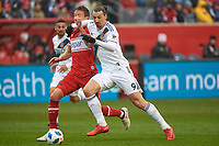 Bridgeview, IL - Saturday April 14, 2018:  during a regular season Major League Soccer (MLS) match between the Chicago Fire and the LA Galaxy at Toyota Park.  The LA Galaxy defeated the Chicago Fire by the score of 1-0.