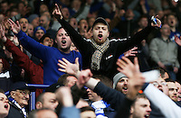 Leicester fans during the Barclays Premier League match between Leicester City and Swansea City played at The King Power Stadium, Leicester on April 24th 2016
