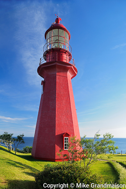 Lighthouse on Gaspe Peninsula <br /> La Martre<br /> Quebec<br /> Canada