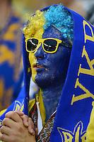 FUSSBALL  EUROPAMEISTERSCHAFT 2012   VORRUNDE Ukraine - Frankreich               15.06.2012 Fan der ukrainischen Nationalmannschaft