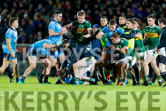 Kerry and Dublin players after the Allianz Football League Division 1 Round 3 match between Kerry and Dublin at Austin Stack Park in Tralee, Kerry on Saturday night.