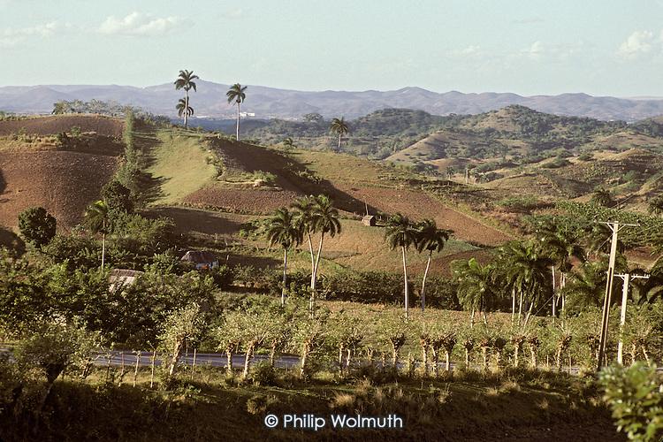 Agricultural landscape near Manicaragua in Santa Clara province.