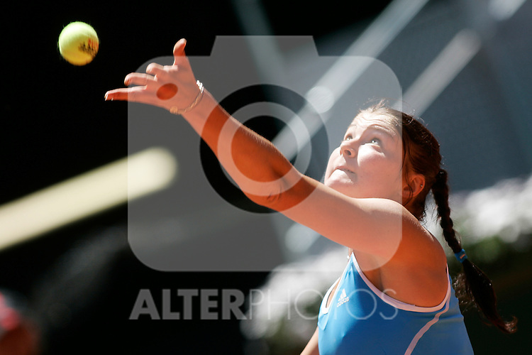 Russia's Dinara Safina during his Madrid Open Semi final match.May 16 2009.(ALTERPHOTOS/Acero).