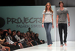 Models walk the runway during the 360 Project show at the first night of Fashion Houston at the Wortham Theater Monday Oct. 10,2011.(Dave Rossman/For the Chronicle)