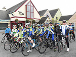 Cyclists line up for the start of the annual kevin King Memorial cycle at the Thatch organised by Drogheda Wheelers cycling Club. Photo:Colin Bell/pressphotos.ie