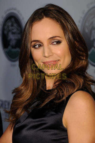 ELIZA DUSHKU.2009 Breeders Cup World Championship Kick-Off Celebration held at ESPN Zone LA Live, Los Angeles, California, USA..November 5th, 2009.headshot portrait black sleeveless silk satin .CAP/ADM/BP.©Byron Purvis/AdMedia/Capital Pictures.