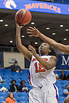 Texas Arlington Mavericks guard Chauntandra Williams (12) in action during the game between the Texas Pan American Lady Broncs  and the Texas Arlington Mavericks at the College Park Center arena in Arlington, Texas. UTPA defeats UTA 59 to 57....