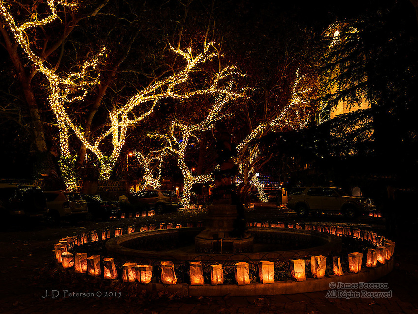 Luminarias, Tlaquepaque Arts and Crafts Village, Sedona, Arizona