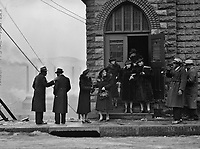 Sunday Best: Congregation of a Black church in the mill district of Pittsburgh, Pennsylvania, January 1941.<br /> <br /> Photo by Jack Delano.