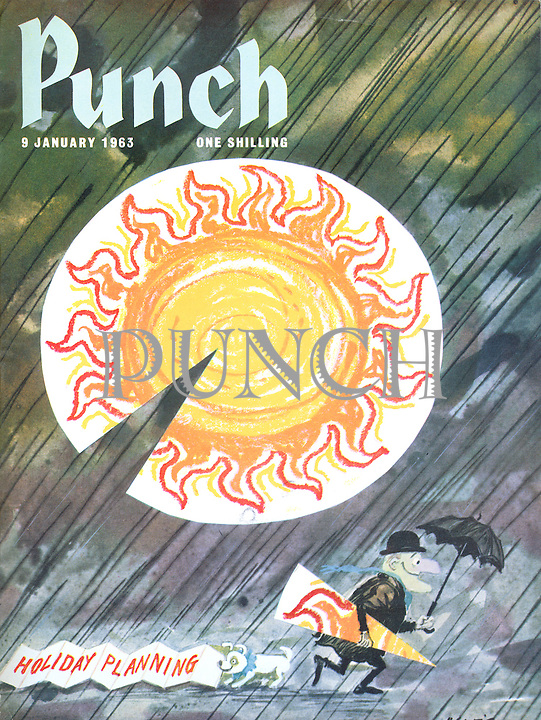 Punch (Front cover, 9 January 1963)