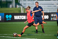 Kansas City, MO - Thursday August 10, 2017: Katie Bowen during a regular season National Women's Soccer League (NWSL) match between FC Kansas City and the North Carolina Courage at Children's Mercy Victory Field.