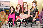 Tarbert Comprehensive School Fashion Show: Displaying their bags  & jewelrya the Tarbert Comprehensive School fashion  show held at the Tintean Theatre, Ballybunion on Friday night last were Cara henry, Saorse Doyle, Laura O'Neill & Michaella Murphy from Bowbella Fashion.