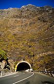 Homer tunnel entrance on Cleddau valley Milford Sound side, Fiordland National Park, South Island, New Zealand